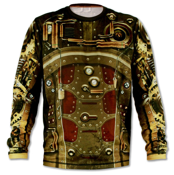 Men's Steampunk Long Sleeve Tech Shirt