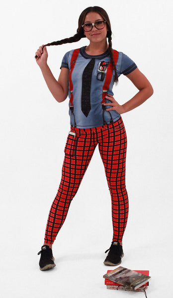 Women's Plaid Tights