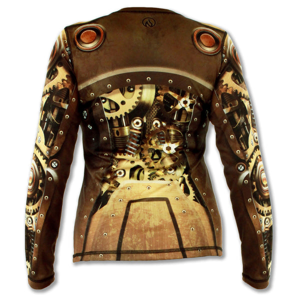Women's Steampunk Long Sleeve Tech Shirt