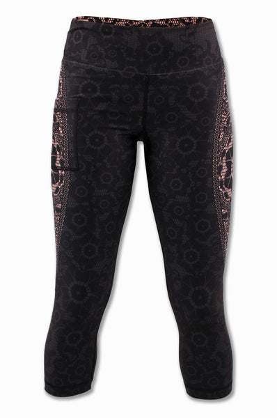 Women's Black Lace Capris