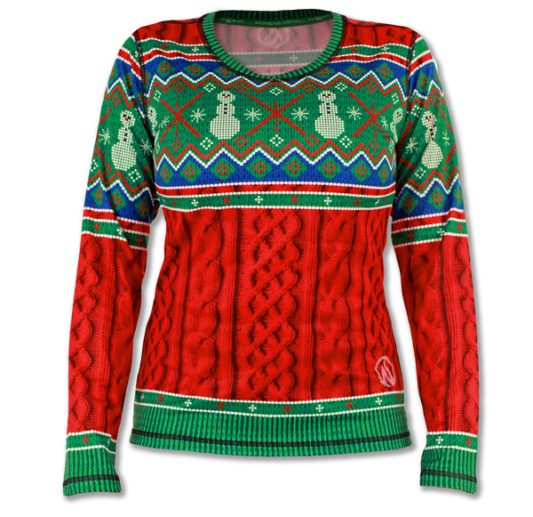 Women's 2015 Holiday Sweater Long Sleeve Tech Shirt
