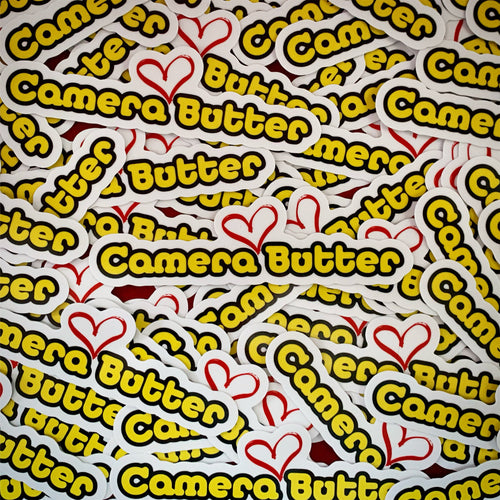Camera Butter Sticker (one FREE with any order)