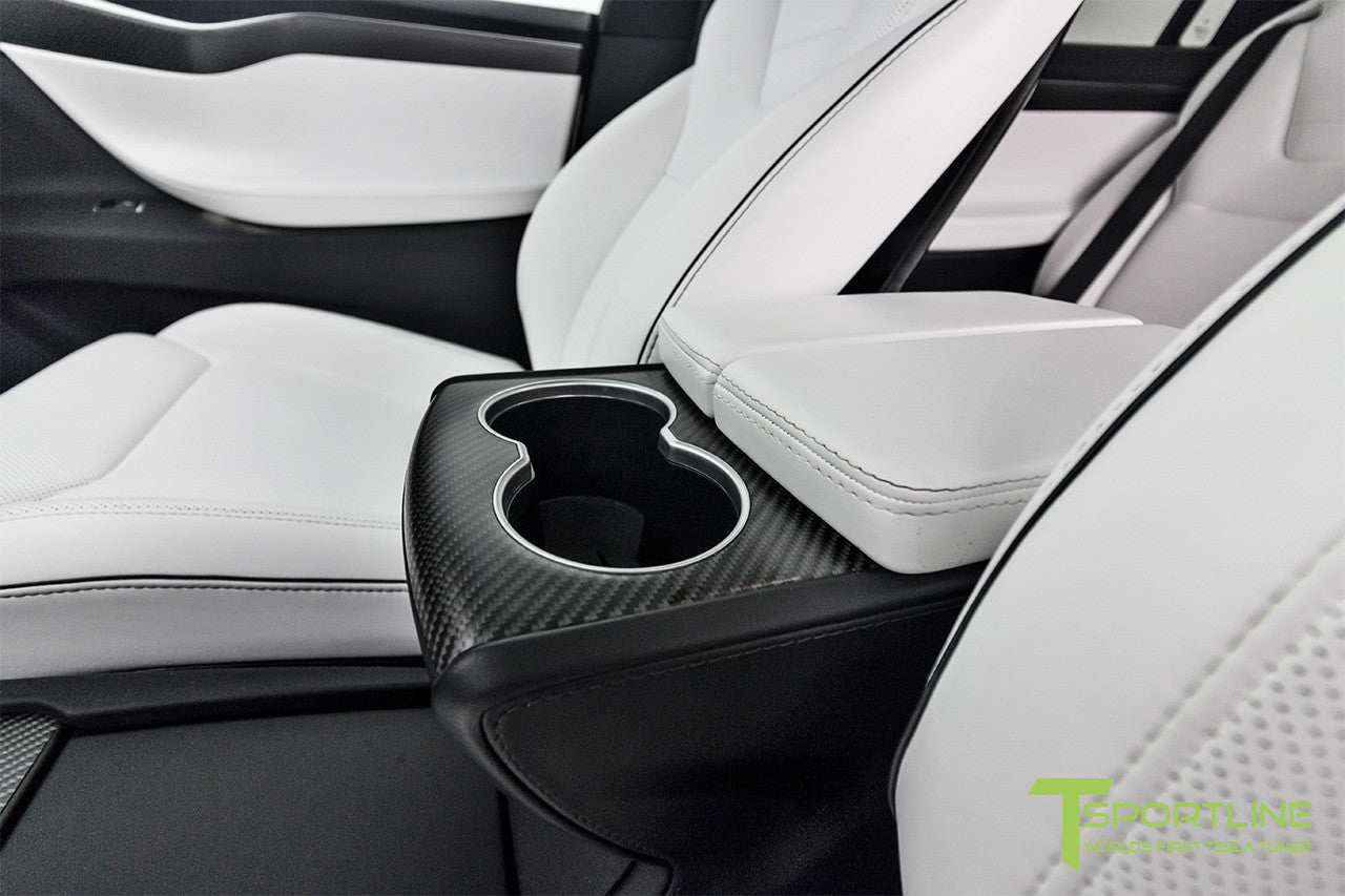 Project White X - 2016 Tesla Model X P90D Ludicrous - White Interior 3