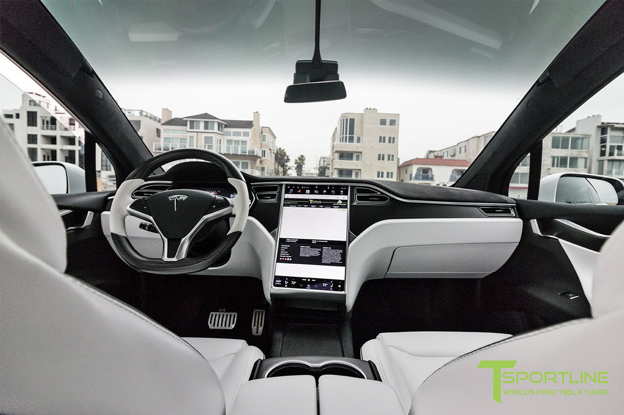 pearl white tesla model x white interior tsportline. Black Bedroom Furniture Sets. Home Design Ideas