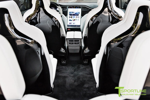 Project T-Rex - 2016 Tesla Model X P90D Ludicrous - White Interior - Custom Floor Mats 2