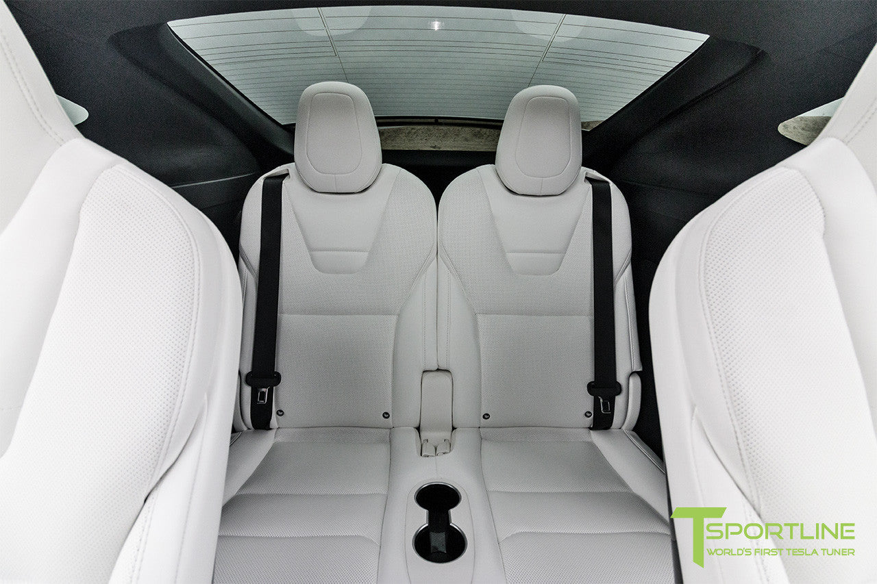 Project White X - 2016 Tesla Model X P90D Ludicrous - White Interior 2