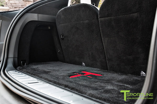 Project T-Rex - 2016 Tesla Model X P90D Ludicrous - White Interior - Custom Floor Mats 1