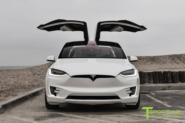 Project White X - 2016 Tesla Model X P90D Ludicrous - White Interior 6