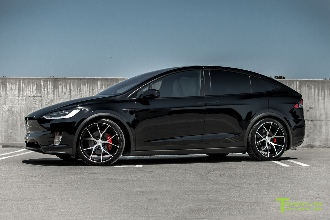 Black Tesla Model X with Diamond Black 22 inch MX115 Forged Wheels by T Sportline 6
