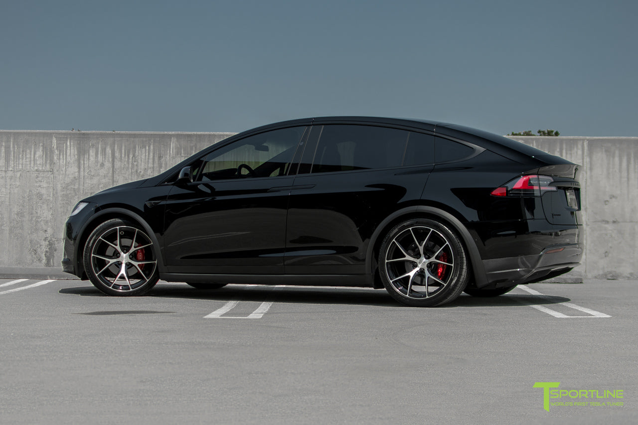 Black Tesla Model X with Diamond Black 22 inch MX115 Forged Wheels by T Sportline 4