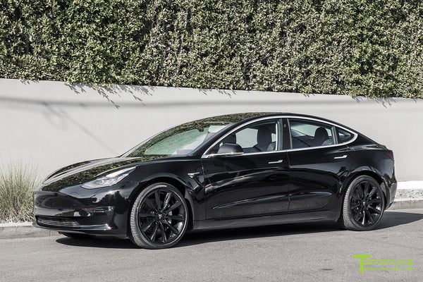 Black Tesla Model 3 with Gloss Black 20 inch TST Turbine Style Wheels by T Sportline 4