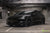 Black Tesla Model 3 with Lowering Springs by T Sportline