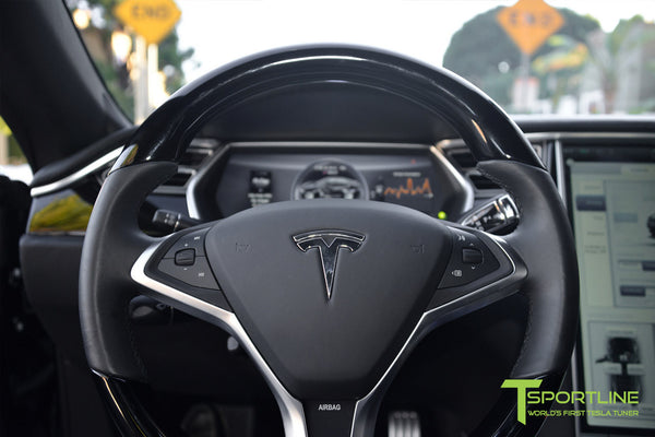 Project LBR - Black Tesla Model S P90D - Custom Ferrari Black Interior - Custom Audio 7