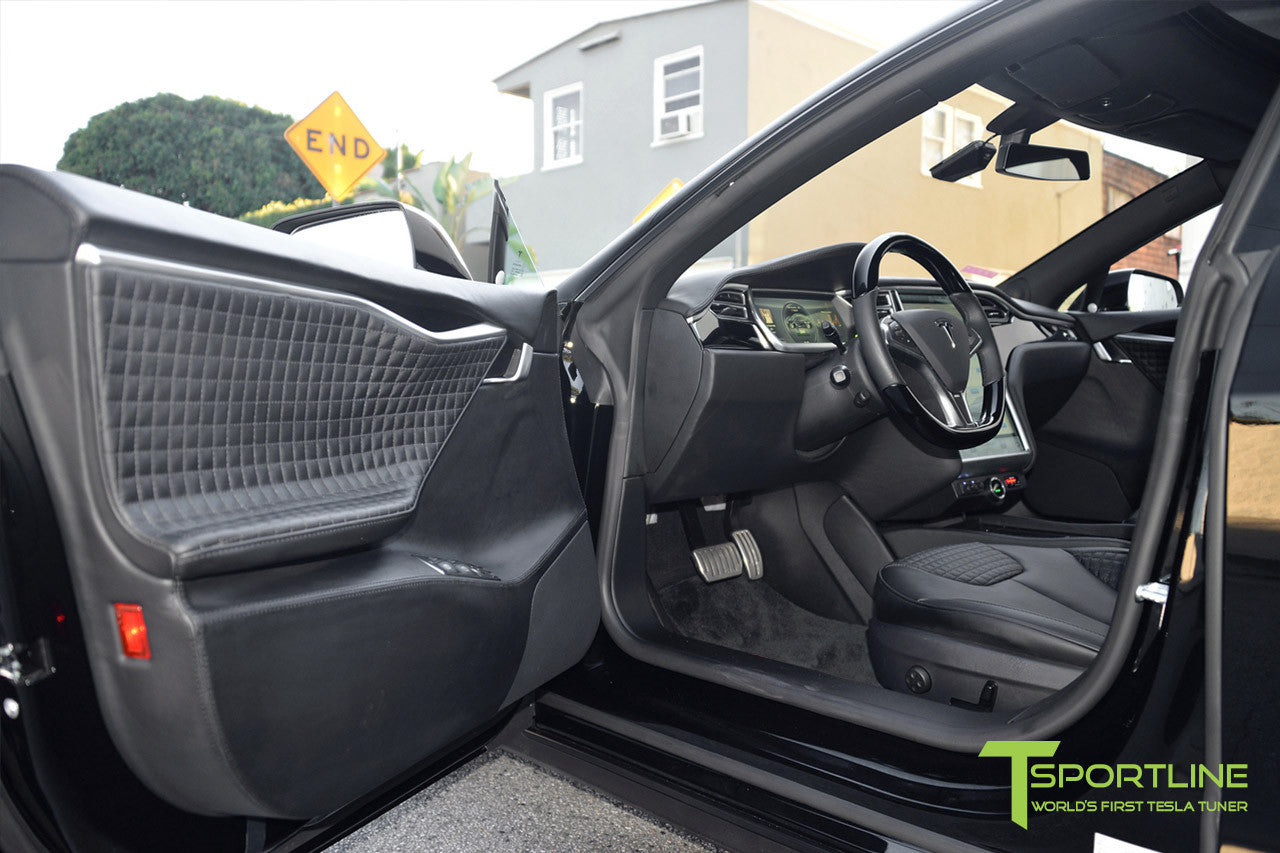 Project LBR - Black Tesla Model S P90D - Custom Ferrari Black Interior - Custom Audio 4