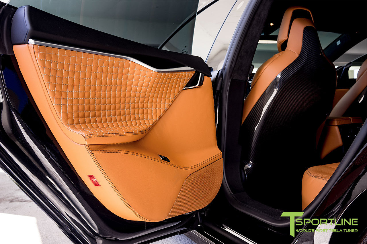 Project Trofeo - 2016 Tesla Model S P100D Ludicrous - Custom Ferrari Tan Interior