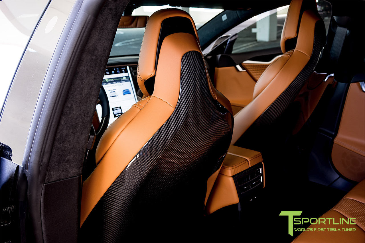 Tesla Model S v2.0 Carbon Fiber Seatback in Gloss Finish 4