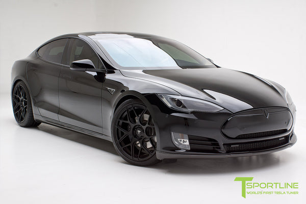Project TS1 - Tesla Model S 85 - Custom Ferrari Creme Interior - Piano Black - Dashboard - Upholstered Steering Wheel - Elon Musk Signed 11