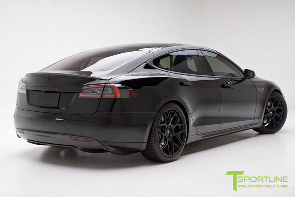 Project TS1 - Tesla Model S 85 - Custom Ferrari Creme Interior - Piano Black - Dashboard - Upholstered Steering Wheel - Elon Musk Signed 8