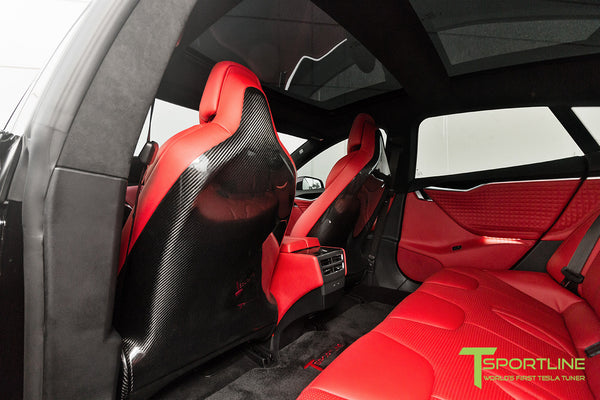 Tesla Model S v2.0 Carbon Fiber Seatback in Gloss Finish 5