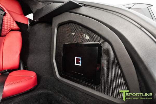 Project TS7 - Model S (2016 Facelift) - Custom Ferrari Rosso Interior - Gloss Carbon Fiber Trim by T Sportline 3