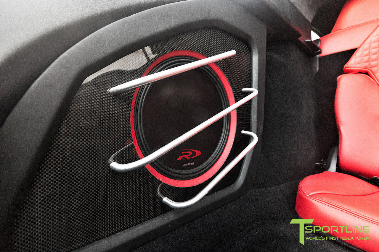 Project TS7 - Model S (2016 Facelift) - Custom Ferrari Rosso Interior - Gloss Carbon Fiber Trim by T Sportline 2