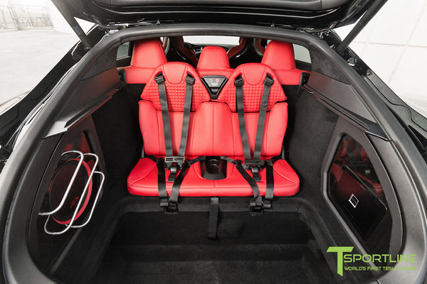 Project TS7 - Model S (2016 Facelift) - Custom Ferrari Rosso Interior - Gloss Carbon Fiber Trim by T Sportline 1