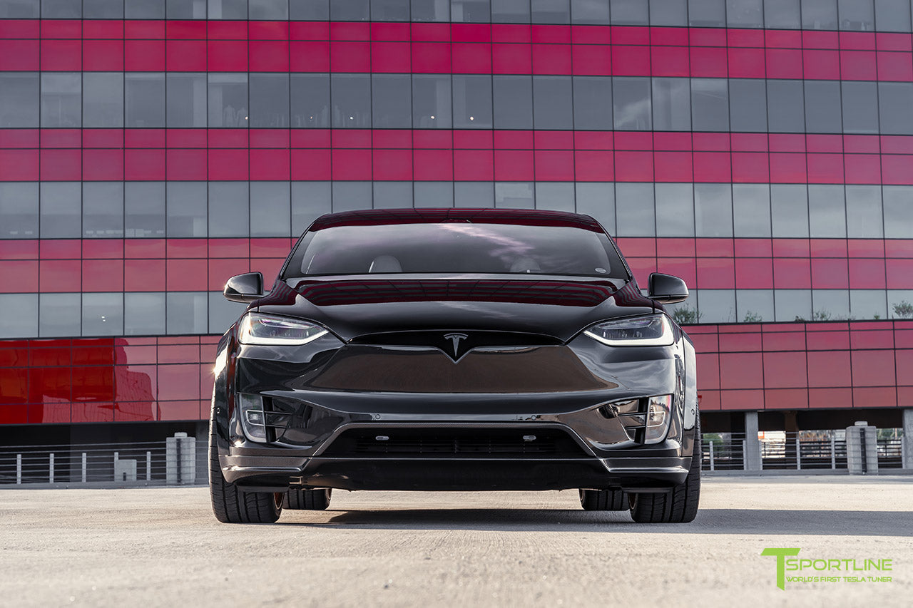 Black Tesla Model X T Largo Wide Body Package by T Sportline