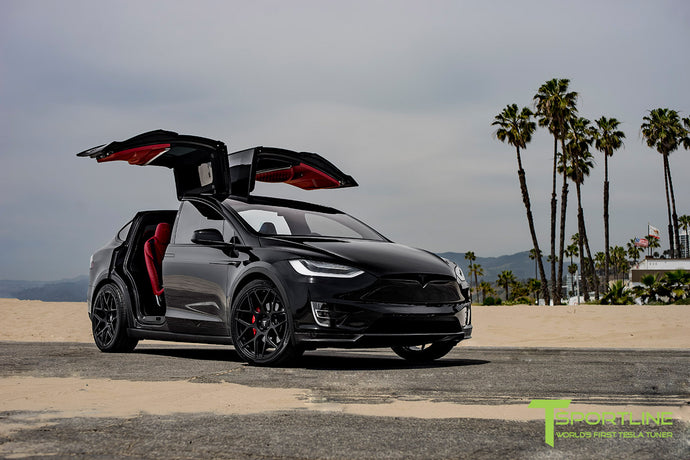 Tesla Model X Chrome Delete - Custom Services by T Sportline
