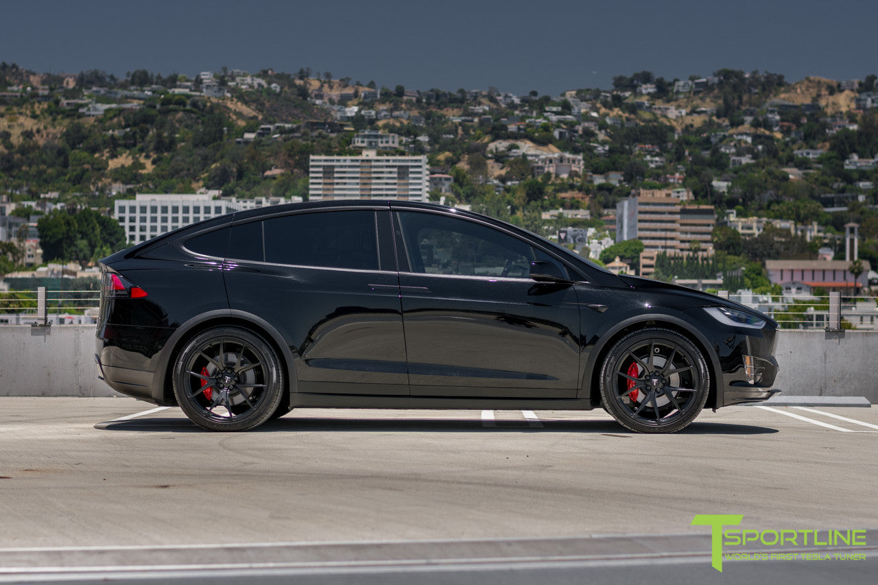 Black Tesla Model X with Matte Black 22 inch MX115 Forged Wheels 6