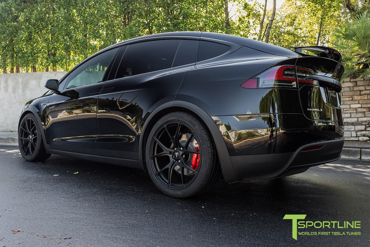 Black 2016 Tesla Model X Signature P90D Ludicrous - Black Interior - 22 inch MX115 Forged Wheels by T Sportline
