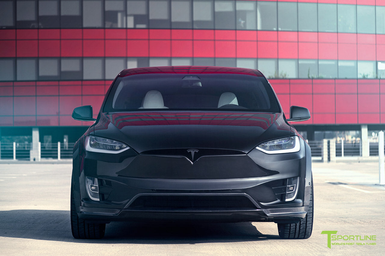 T Largo Limited Edition Tesla Model X Carbon Fiber Wide Body Kit with Matte Black TS120 22 inch Tesla Forged Wheels by T Sportline 13