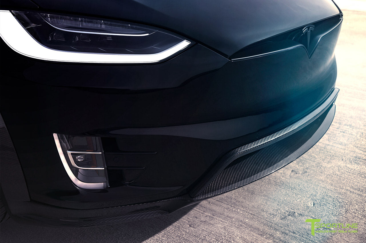 T Largo Limited Edition Tesla Model X Carbon Fiber Wide Body Kit with Matte Black TS120 22 inch Tesla Forged Wheels by T Sportline 7