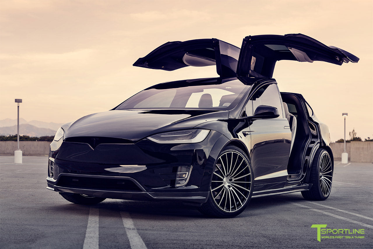 Tesla Model X Limited Edition Carbon Fiber Wide Body Package T Largo 5 of 20