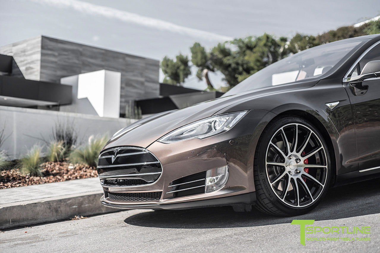 Project Regal - Tesla Model S P90D - Custom Ferrari Tan Interior - 21 Inch TS112 Forged Wheels in Diamond Black