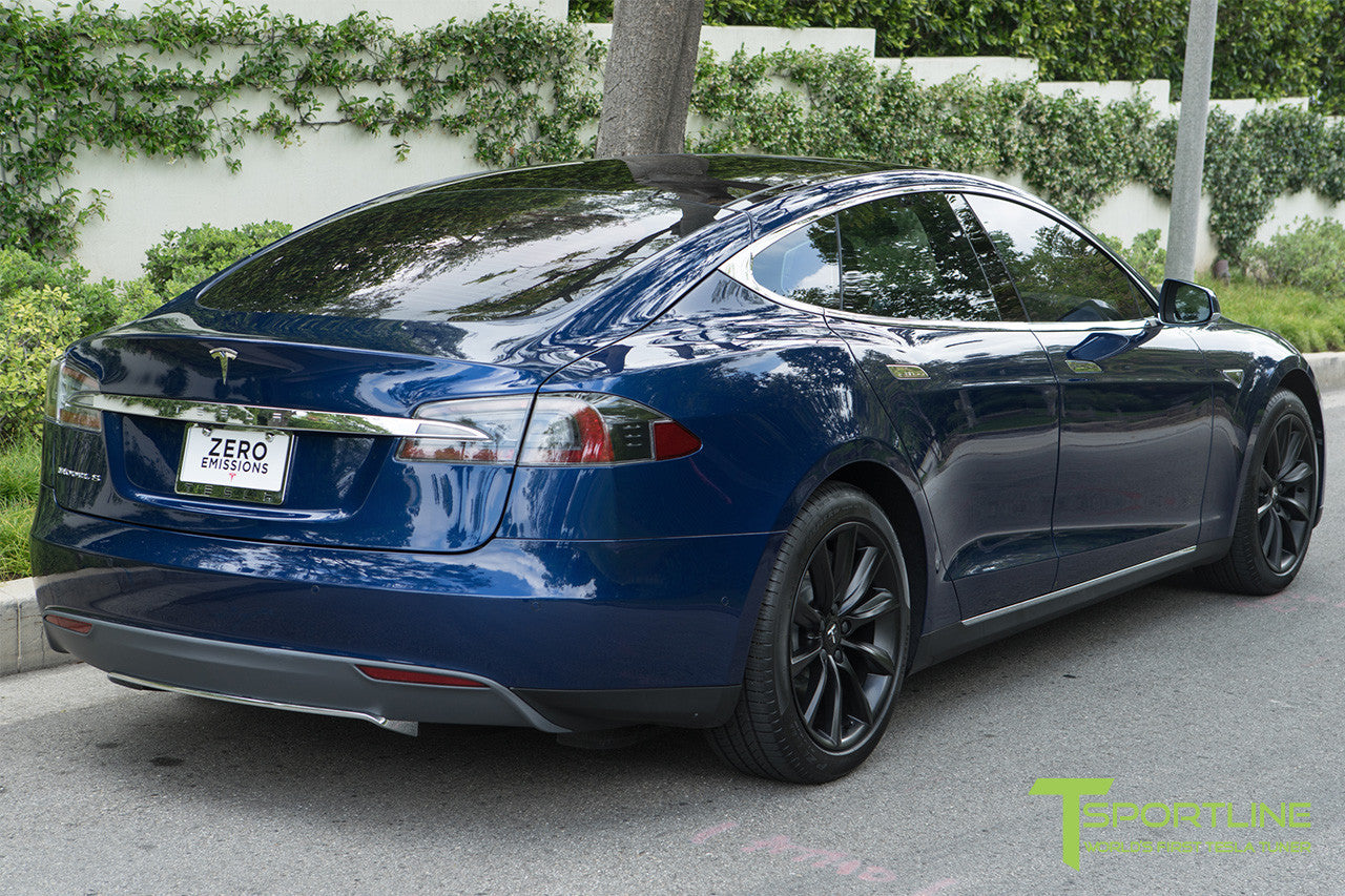 Deep Blue Metallic Model S 1.0 with 19