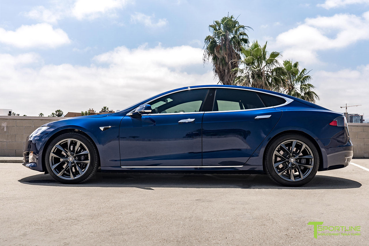 Deep Blue Metallic Model S with Space Gray 20