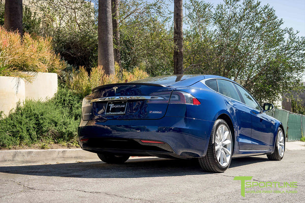 Deep Blue Metallic Model S 2.0 with 19