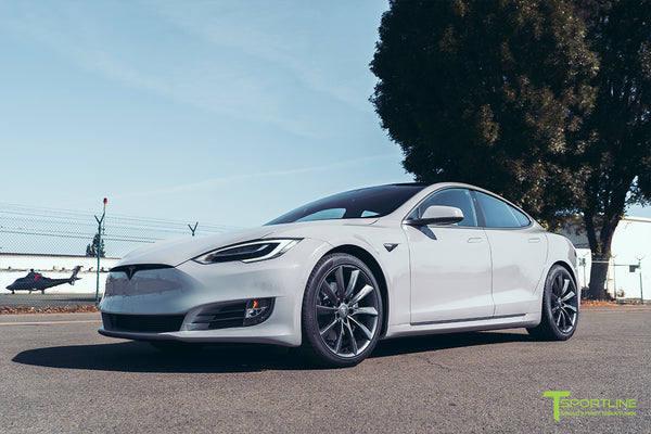 Gloss Gray Tesla Model S Performance with 20