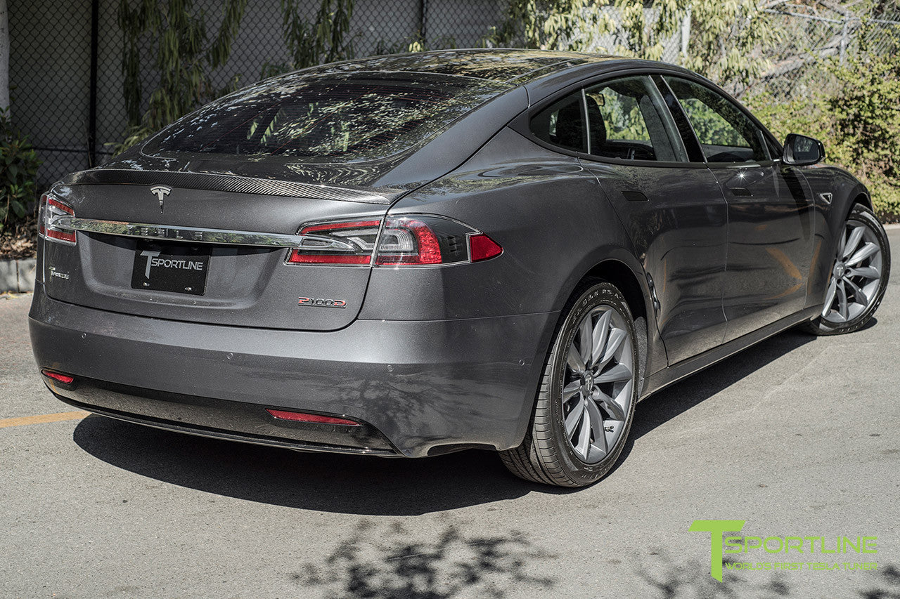 "Midnight Silver Metallic Model S 2.0 with 19"" TST Tesla Wheel in Metallic Grey"
