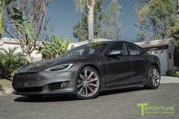 Midnight Silver Metallic Model S 2.0 with 20