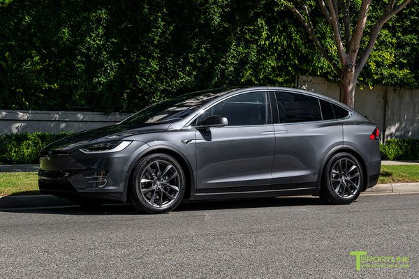 Midnight Silver Metallic Tesla Model X with Space Gray 20 inch TSS Flow Forged Wheels by T Sportline 4