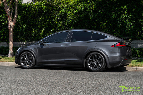 Midnight Silver Metallic Tesla Model X with Space Gray 20 inch TSS Flow Forged Wheels by T Sportline 2