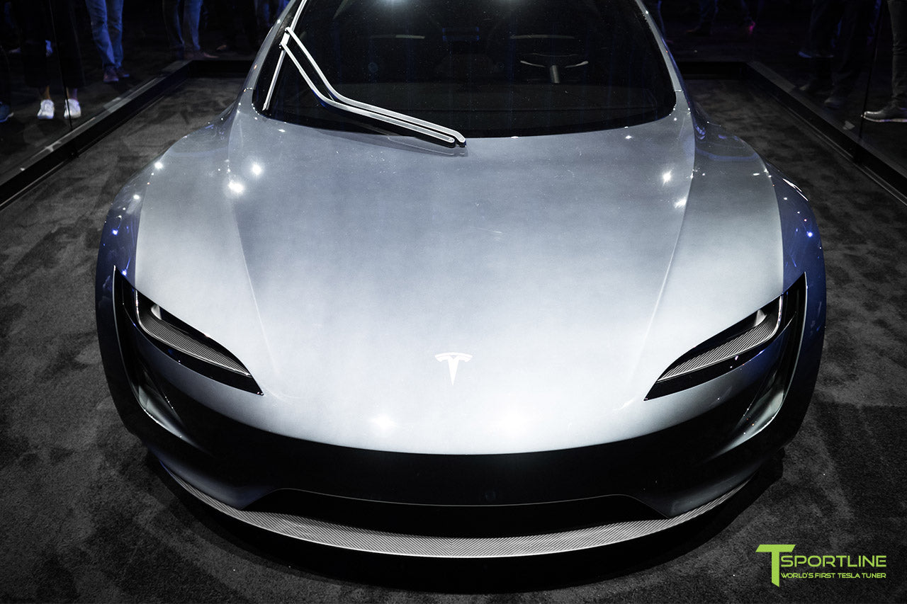 Tesla Roadster Unveiling Photos in Red Multi-Coat and Midnight Silver Metallic with Interior by T Sportline