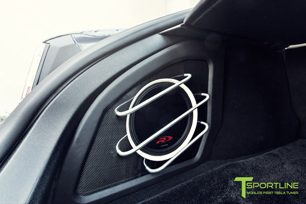 Project MSM - Model S (2016 Facelift) - Custom Ferrari Creme Interior - Gloss Carbon Fiber Trim by T Sportline 1
