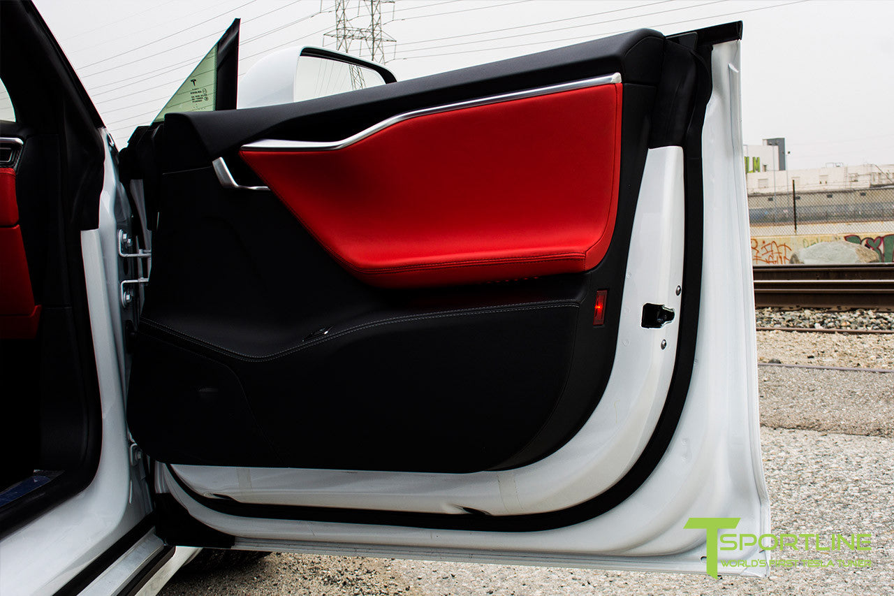 Project TS4 - Tesla Model S P90D - Custom Ferrari Rosso Interior