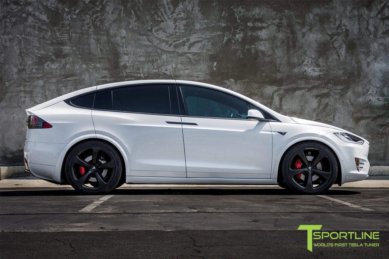2016 Tesla Model X 90D Ludicrous - White Interior - 22 inch MX5 Forged Wheels Matte Black