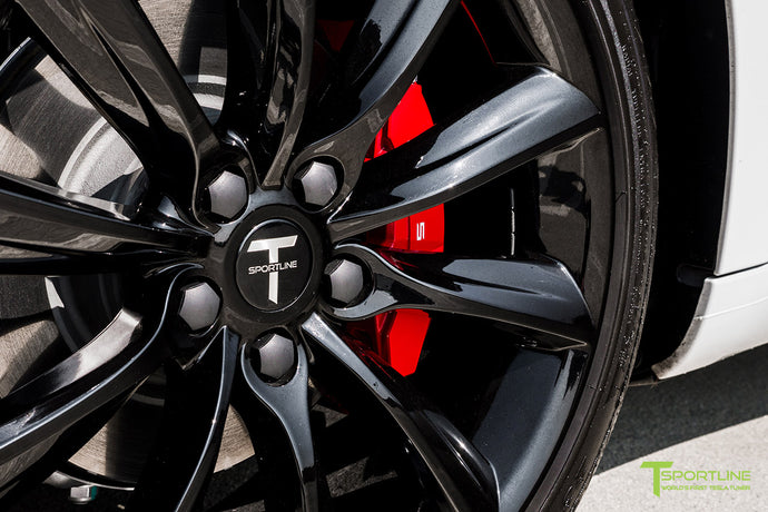 Tesla Model 3 Brake Caliper Color Change - Custom Services by T Sportline