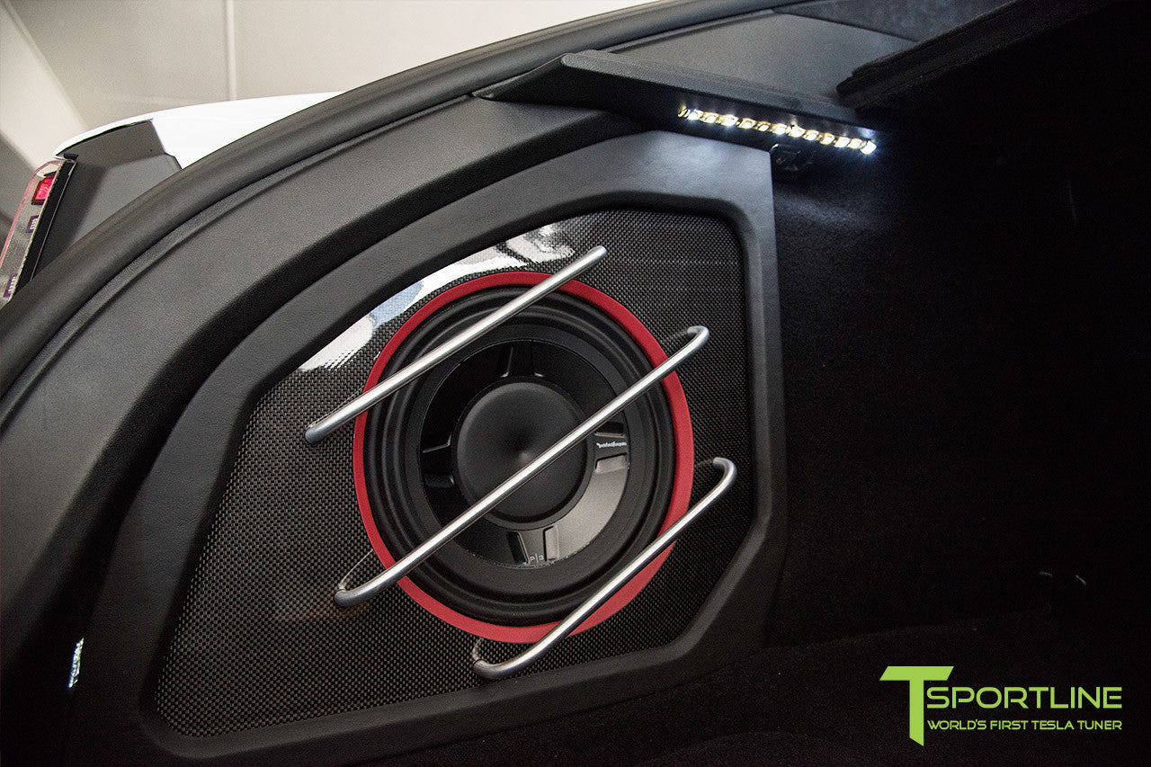Project TS6 - Model S (2012-2016) - Custom Bentley Red Interior - Gloss Carbon Fiber Trim by T Sportline 1