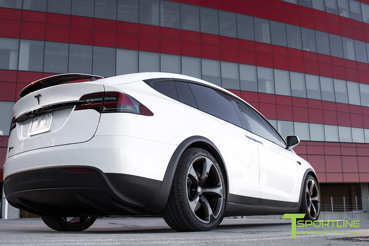 2016 Tesla Model X 90D Ludicrous - White Interior - 22 inch MX5 Forged Wheels Custom Midnight Purple