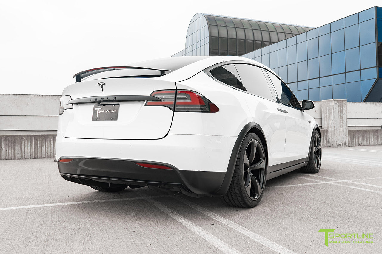 Project White X2 - 2016 Tesla Model X P90D Ludicrous with Ultra White Interior, 22 inch MX5 Forged Wheels Gloss Black, and Matte Carbon Fiber Steering Wheel by T Sportline 12
